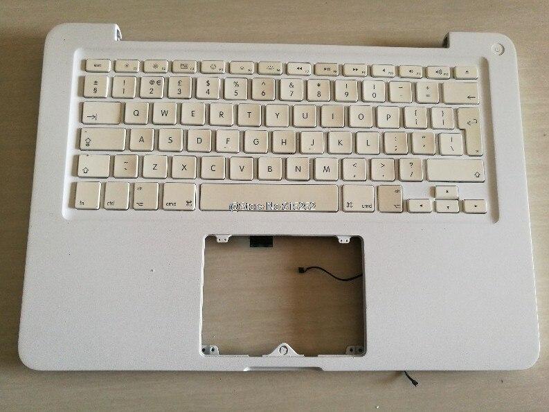 Ordinateur portable PalmRest & clavier pour Apple A1342 MC207 MC516 pour MacKBook 13' royaume-uni royaume-uni mise en page Uesd 80% nouveau