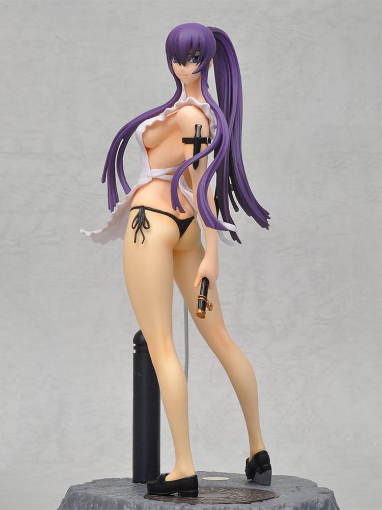 Chara-Ani Highschool of the Dead Busujima Saeko PVC Action Figure Anime Sexy Figure Model Toys Sexy Girl Collection Doll Gift