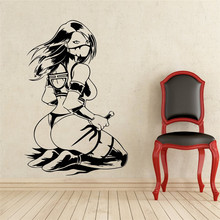 Creative wall art home decoration Mileena Wall Decal Mortal Kombat Vinyl Removable living room stickers