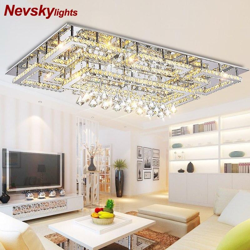 Luxus led leuchten zeichnung kristall decke licht wohnzimmer decke lampe moderne beleuchtung schlafzimmer led kristall lampe fernbedienung