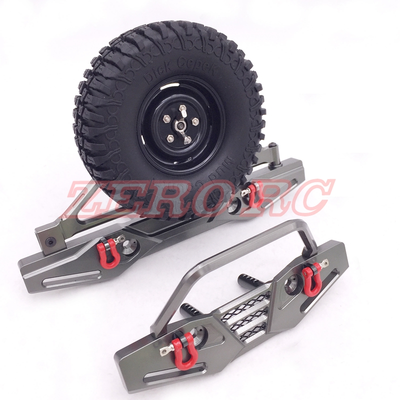 Axial Scx10 Poison Spyder Front And Rear Bumpers With Tire