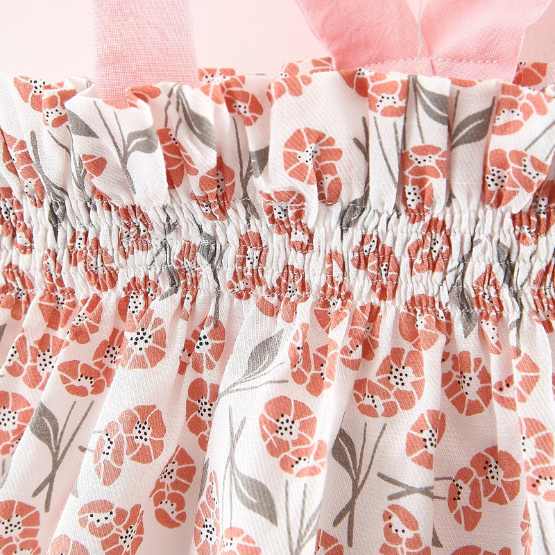 Nowa letnia bluzka z kwiatowymi kokardkami i spodenkami Komplet - Odzież dla niemowląt - Zdjęcie 5