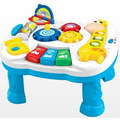 Free shipping musical baby learning table discovering activity baby table educational game toys