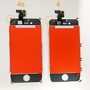 Image 2 - AAA jakość LCD dla iPhone 4 4s wymiana ekranu wyświetlacz Digitizer ekran dotykowy montaż dla iPhone 6 6s 7 ekran LCD