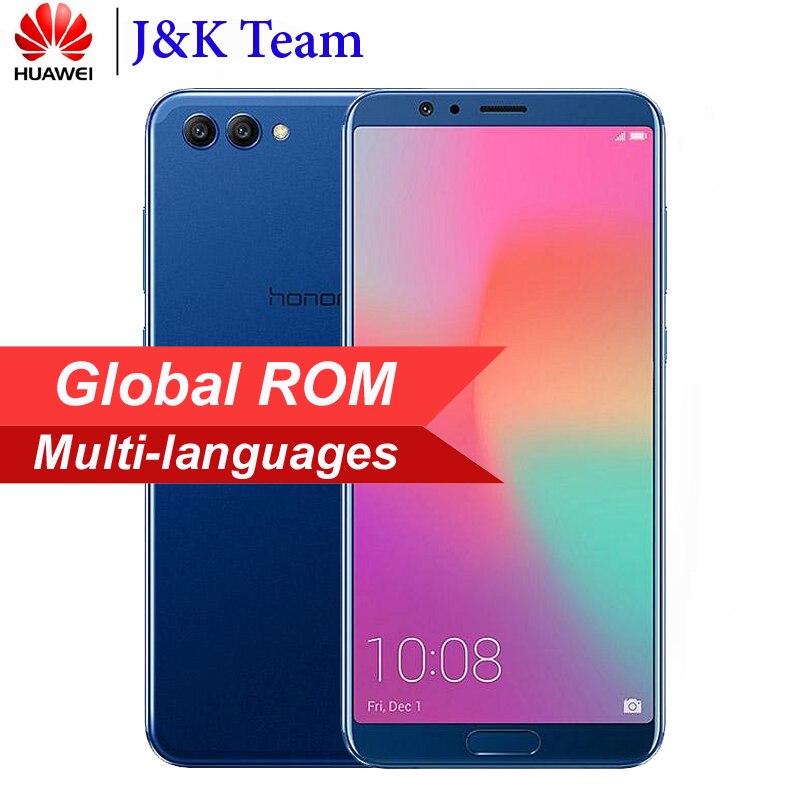 """Huawei Honor V10 6 ГБ 64 ГБ Global ROM вид 10 смартфон Kirin 970 Octa Core ОТА NFC 5,99 """"P 2160×8,0 P EMUI Android 1080 телефон"""