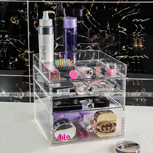 Aila Makeup Organizer Storage Box Acrylic Make Up Organizer Cosmetic Organizer Makeup Storage Drawers Organizer