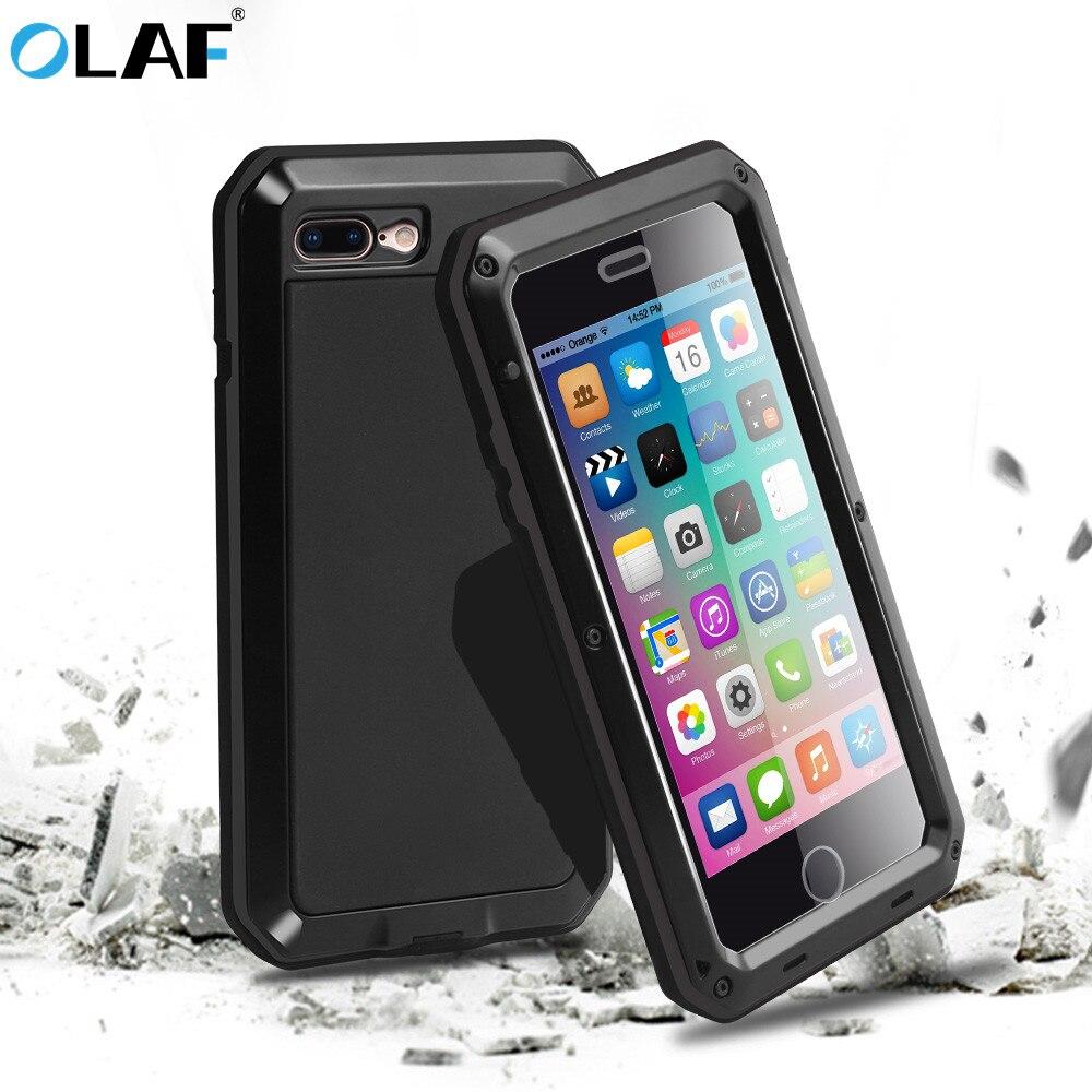 OLAF Luxury Shockproof Doom Armor Waterproof Metal Aluminum Phone Cases For IPhone X 8 7 6