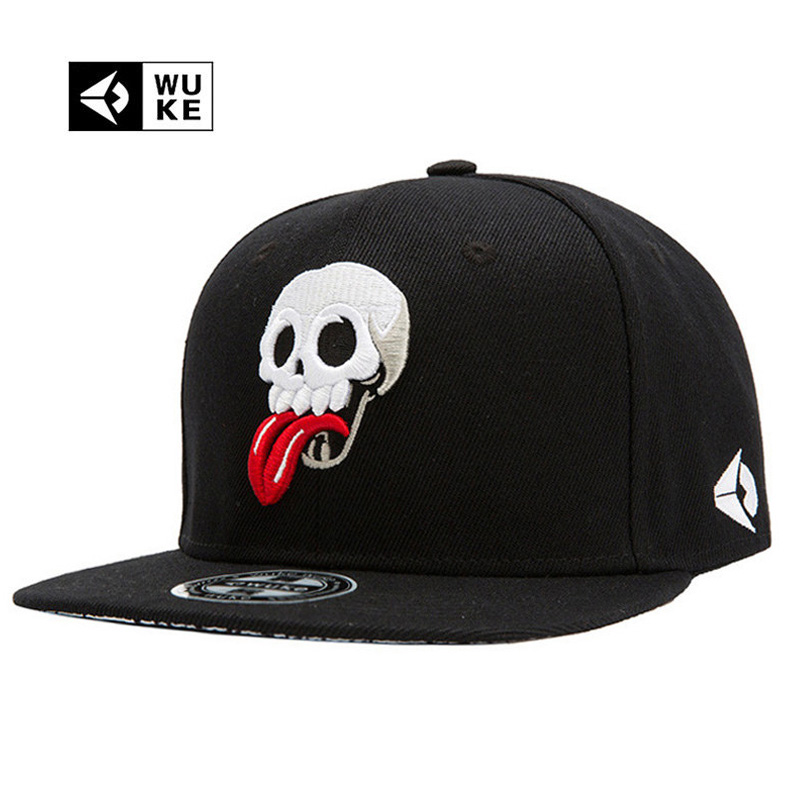 WUKE Brand New Hip Hop Snapback Cap Hats Skull Adjustable Baseball Cap For Men Women casquette gorras planas bone aba reta toca 2016 new new embroidered hold onto your friends casquette polos baseball cap strapback black white pink for men women cap