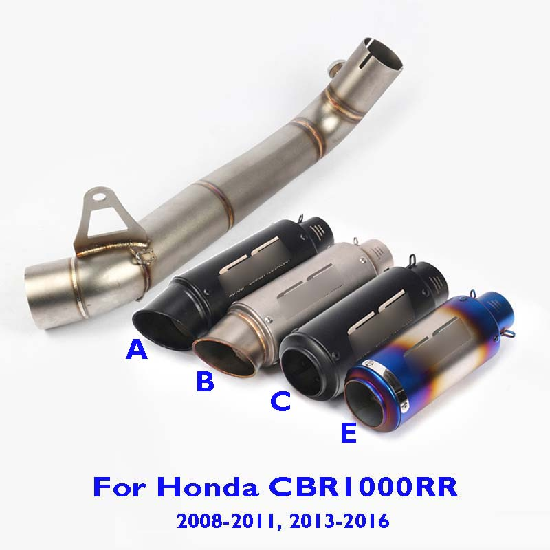 CBR1000RR Motorcycle Slip on Exhaust Muffler Connect Link Tube Exhaust System Mid Pipe for Honda CBR1000RR