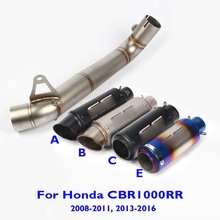CBR1000RR Motorcycle Slip on Exhaust Muffler Connect Link Tube Exhaust System Mid Pipe for Honda CBR1000RR 2008-2011 2013-2016
