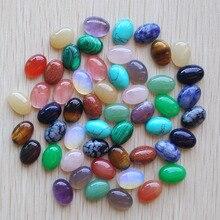 2020 mode heißer verkauf mixed naturstein Oval CAB CABOCHON tiger eye opal stein perlen 10x14mm großhandel 50 teile/los freies verschiffen
