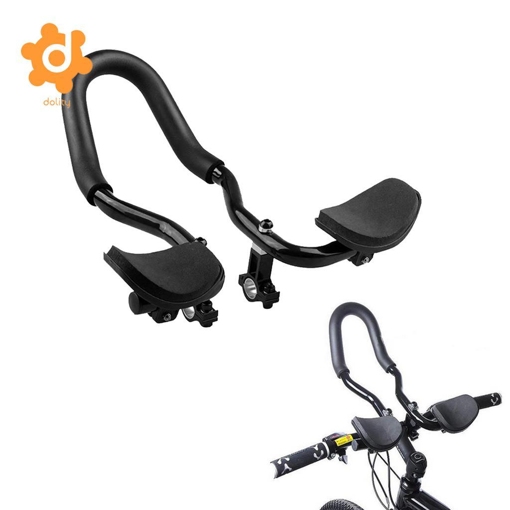 Road Mountain Bike Bicycle Alloy Triathlon Aero Rest Handle Bar Clip ON Tri Bars