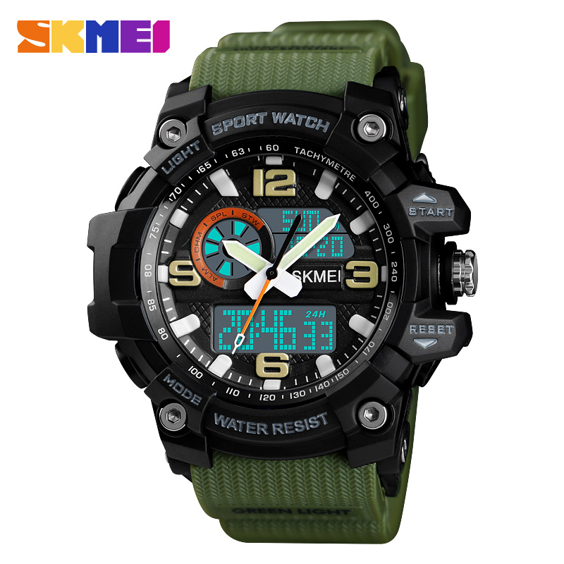 SKMEI Women Watch Stopwatch Chronograph Sport Watch Luxury Luminous Electronic Wristwatch 50M Waterproof Women's Watches Clock