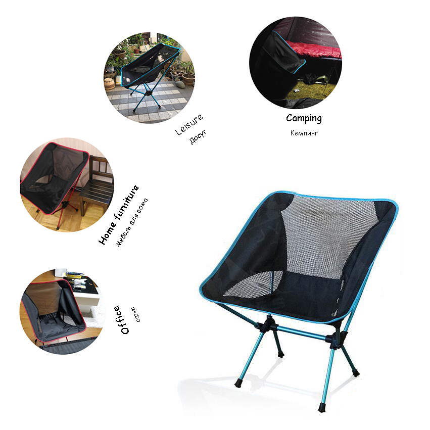 Camping Chair Outdoor Furniture Portable Fishing Seat Leisure 7075 Aluminum Alloy Collapsible Bear 150kg Indoor Folding Chair
