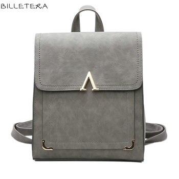 BILLETERA Fashion Women Backpack Bag Messenger Bag Back to School Cute Backpack V Letter Сумка