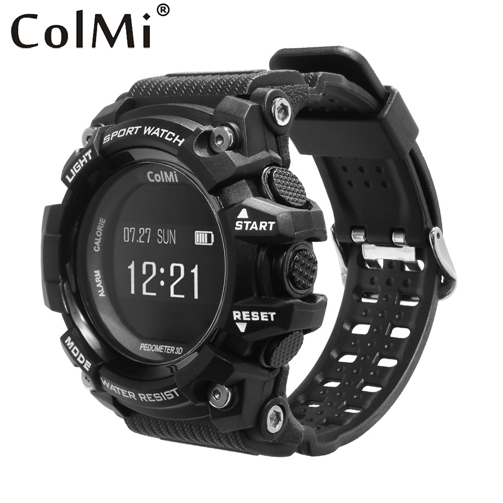 ColMi Smart Watch T1 OLED Display Heart Rate Monitor IP68 Waterproof Push Message Call Reminder for Android IOS Phone Watch wireless service call bell system popular in restaurant ce passed 433 92mhz full equipment watch pager 1 watch 7 call button