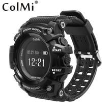 Лучшие Colmi Смарт-часы T1 OLED Дисплей сердечного ритма Мониторы IP68 Водонепроницаемый нажмите сообщение напоминание для Android и IOS телефон часы