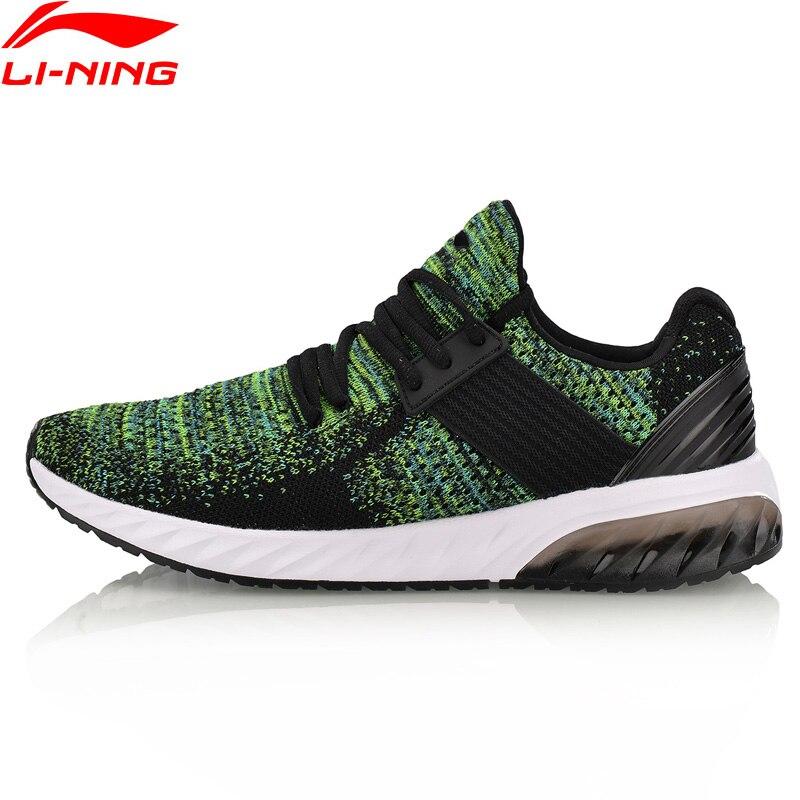 Li-ning hommes GEL tricot chaussures de marche Mono fil respirant doublure chaussures de Sport portable Anti-glissant baskets AGLN041 YXB132