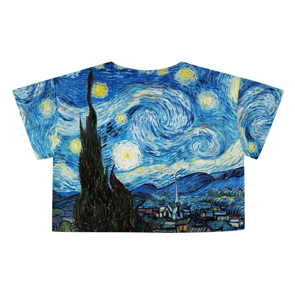 Van Gogh Crop Top