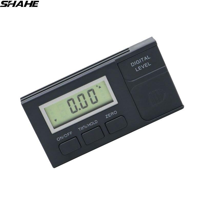 Shahe Digital Angle Gauge 360 Degree Mini Digital Protractor Inclinometer Electronic Level Box Plastic Protractor Measuring Tool