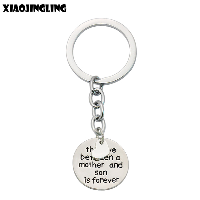 US $1 09 19% OFF|XIAOJINGLING Key Chains Family Keyrings Gifts The Love  Between Grandmother/Granddaughter/Mother/Daughter/Father/Son Is Forever-in  Key