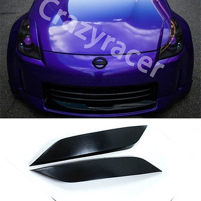 Headlight Cover Eyelid Eyebrow For Nissan 350Z Z33 Coupe 03-06 Unpainted
