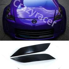 Coupe Cubierta del faro Cejas Párpados Para Nissan 350Z Z33 03-06 Sin Pintar