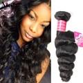 Hot Sale 4 Bundle Deals 8A Unprocessed Virgin Hair Malaysian Loose Wave Human Hair Bundles Malaysian Virgin Hair Loose Wave