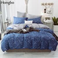 Hongbo AB Side Constellation Star Map Bedding Duvet Cover Flannel Crystal Velvet 100% Cotton Winter Quilt Cover Winter Bedcover