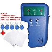 Portable 125KHz RFID Reader Writer Duplicator Copier Programmer Device 5 Free EM4305 T5577 Tag 5 Free