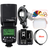 Godox TT685C N O F GN60 TTL Flash Light Speedlite X1T Trigger Bowens S Type Bracket