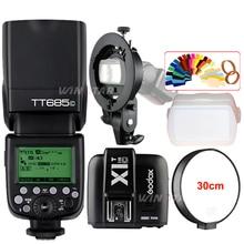 Godox TT685C/N/O/F GN60 TTL Flash Light Speedlite +X1T Trigger + Bowens S-Type Bracket Kit For Canon Nikon Fujifilm Olympus