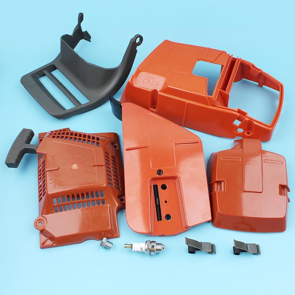 Recoil For Bushin Plug Guard 365 Chainsaw Husqvarna Starter Top Spark 372 Holder Engine Filter 362 371 Air Sprocket Cover Handle