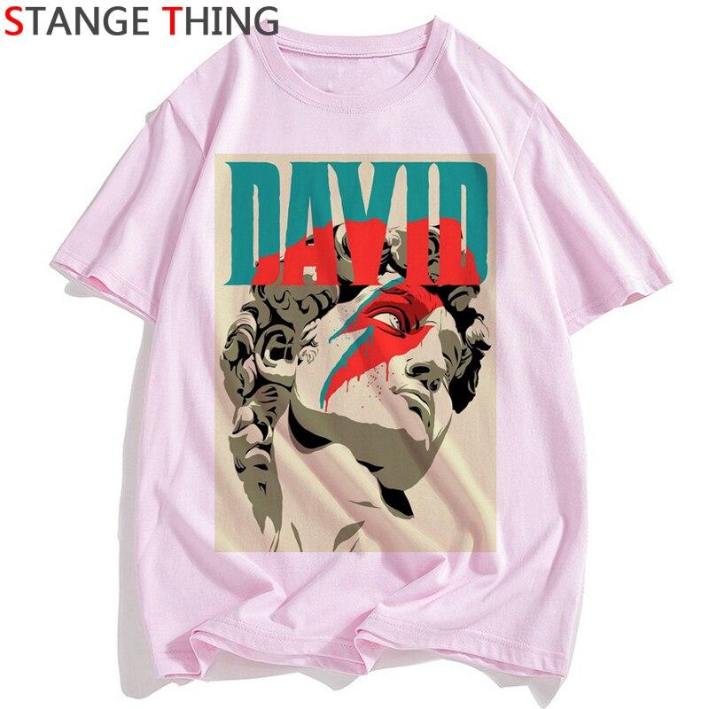 Camiseta engraçado impresso tshirt unissex hip hop camiseta superior masculino/feminino rip david bowie t camisa masculina/feminina da música do rock