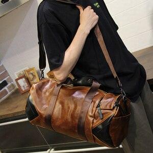 Image 5 - Xiao.P Men Handbag Large Capacity Travel Bag Designer Shoulder Messenger Luggage Bags Good Quality Casual Crossbody Travel Bags