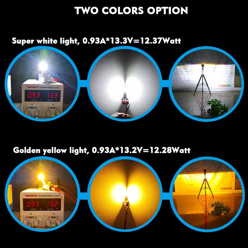 CNSUNNYLIGHT H11 H8 LED Car Bulbs Fog Light 9005 HB3 9006 HB4 2400Lm 6000K White 3000K Yellow H9 H16 High Power Auto DRL Foglamp (1)
