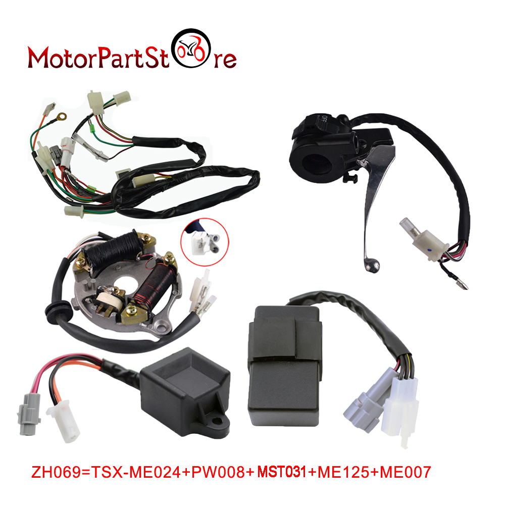 COMPLETE WIRING HARNESS WIRE Loom Ignition Switch CDI Unit Magneto Stator For YAMAHA PW50 REPLACEMENT AFTERMARKET @15 for opel astra h gtc 2005 15 h11 wiring harness sockets wire connector switch 2 fog lights drl front bumper 5d lens led lamp
