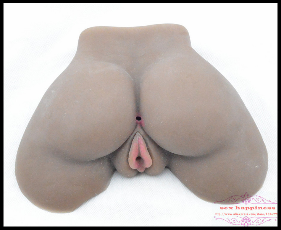 Black Silicone Ass With Vagina Real Pussy 3D Japanese -4479