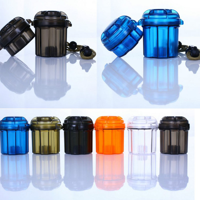High Best Quality EDC Gear Survival Capsule Waterproof Storage Container  Battery Holder Box Case Tool Camping