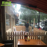 Customized Size Transparent soft glass film used as Wind and Water resistant Awnings / Greenhouses / Garden Sun Room / Gazebos
