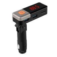 Carro Transmissor FM Bluetooth 6 2-em-1 Sem Fio Bluetooth AUX Kit Car MP3 Player Transmissor FM USB Carregador de Carro FM Modulador