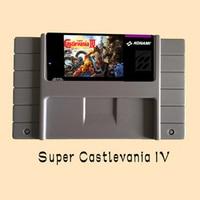 Super Castlevania IV USA versión 16 bit tarjeta de juego gris grande para jugador de juego NTSC PAL
