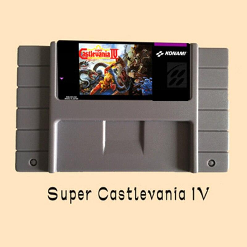 Super Castlevania IV USA Version 16 peu Grand Gris Carte de Jeu Pour NTSC PAL Jeu Lecteur