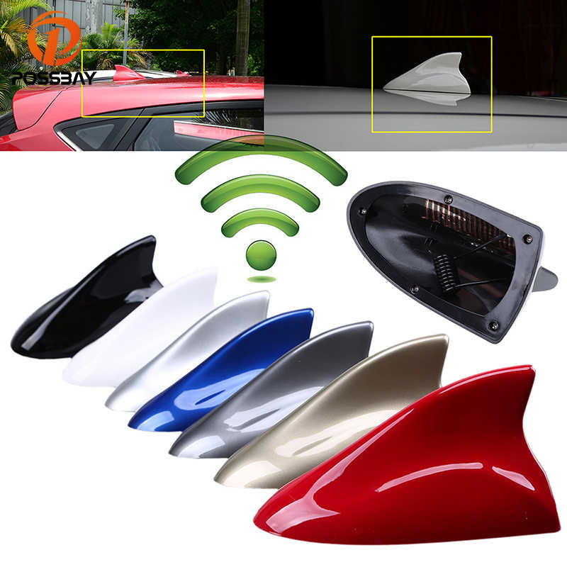 POSSBAY Universal Car Shark Fin Antenna Roof Decorative