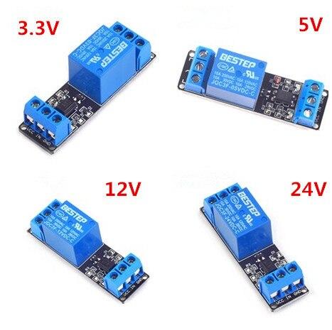 3.3V 5V 12V 24V 1 Channel Relay Module Low Level Trigger Optocoupler Isolation Relay Module