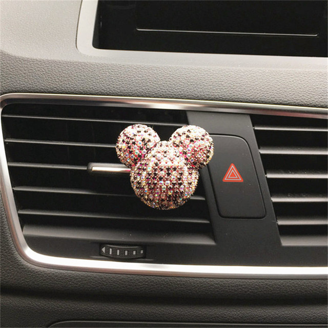 Luxury Car perfume Diamond Air conditioner Outlet clip Interior decoration Car Air Freshener Car Styling Perfumes 100 Original 5