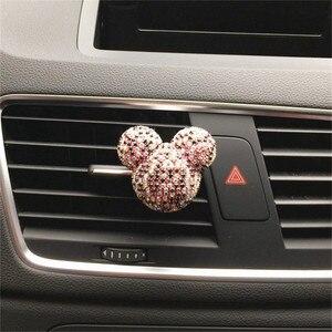 Image 5 - Luksusowy odświeżacz do samochodu diamentowy klimatyzator wylot klip dekoracja wnętrz odświeżacz powietrza do samochodu Car Styling perfumy 100 oryginalny