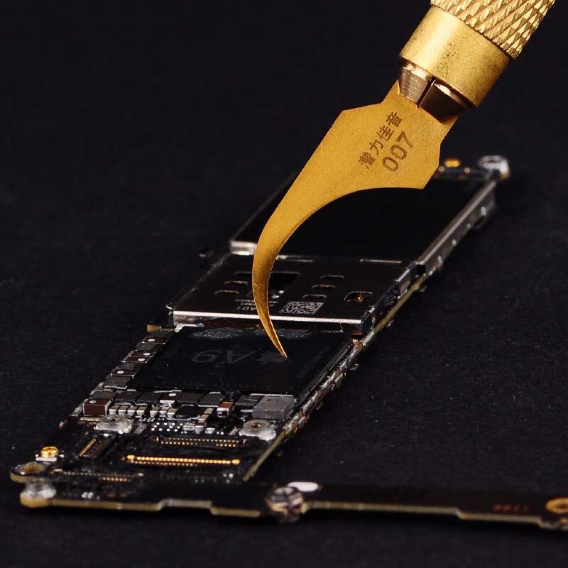 Wozniak placa base IC reparación cuchillo pegamento negro herramienta de eliminación de nuevo hoja fría tecnología