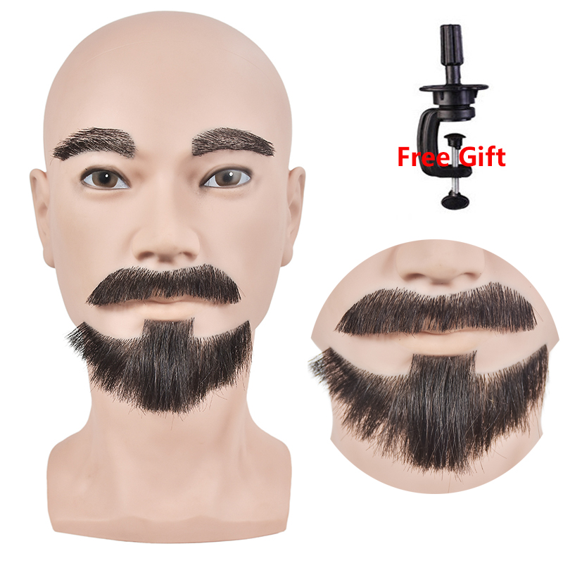 New Arrival Male Mannequin Head For Wigs Hat Displaying Head Model Head Mannequin With Beard Styling Dolls Head With Clamp