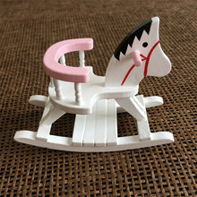 1:12 Dollhouse Miniature Furniture Wooden Horse Rocking Chair For Kids Action Figure Doll House Decoration Dolls Accessories New(China)